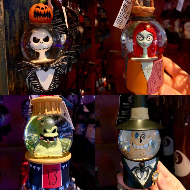 Nightmare Before Christmas Snowglobe Ornaments Disneyland Resort