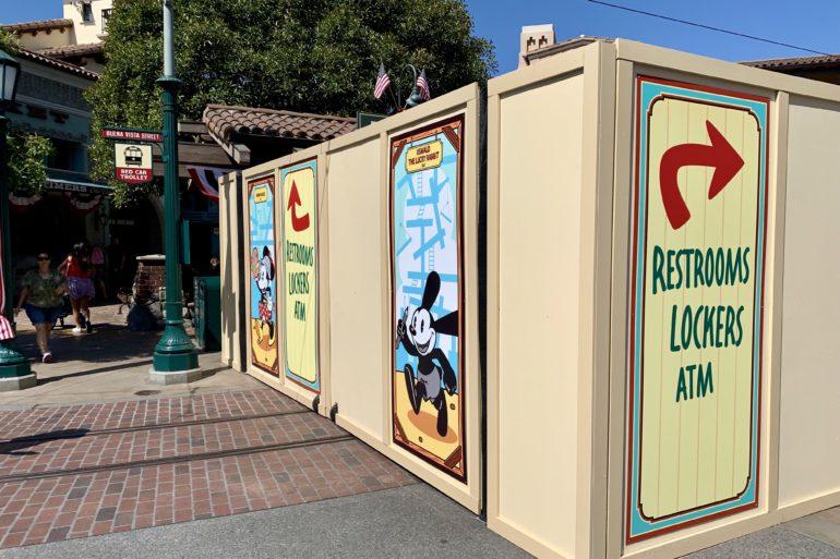 Red Car Trolley Station Buena Vista Street Under Refurbishment Disney California Adventure
